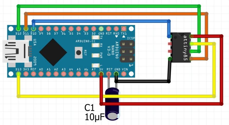 Arduino como programador ISP para Tiny