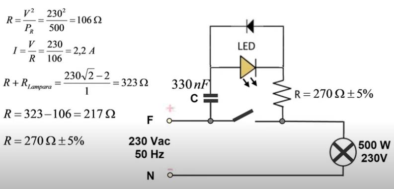 Circuito led en instalación domestica