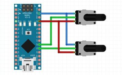 Conexon de potenciometros a Arduino
