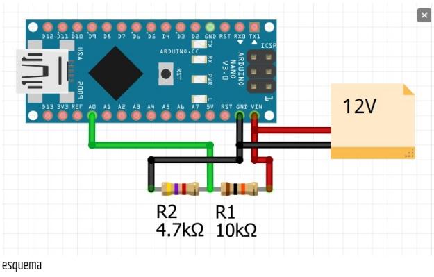Divisor de tensión en Arduino
