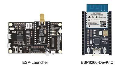 Actualmente, los kits de depuración para chips y módulos Wi-Fi basados en ESP8266 están representados por dos placas: ESP-Launcher y ESP8266-DevKitC.