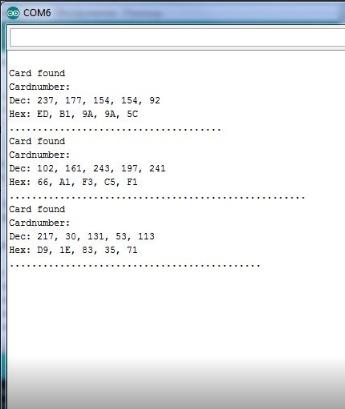 Lectura del módulo RC522 a Arduino