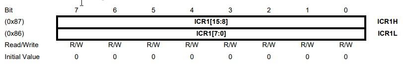 Los registros de arduino, registro ICR1