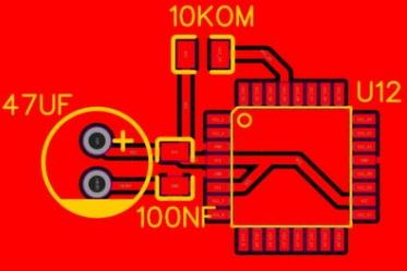 Pcb del microcontrolador desnudo