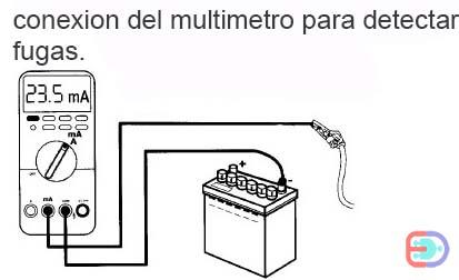 conexion del multimetro para detectar fugas de corriente