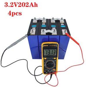 cuatro modulos baterias lifepo4